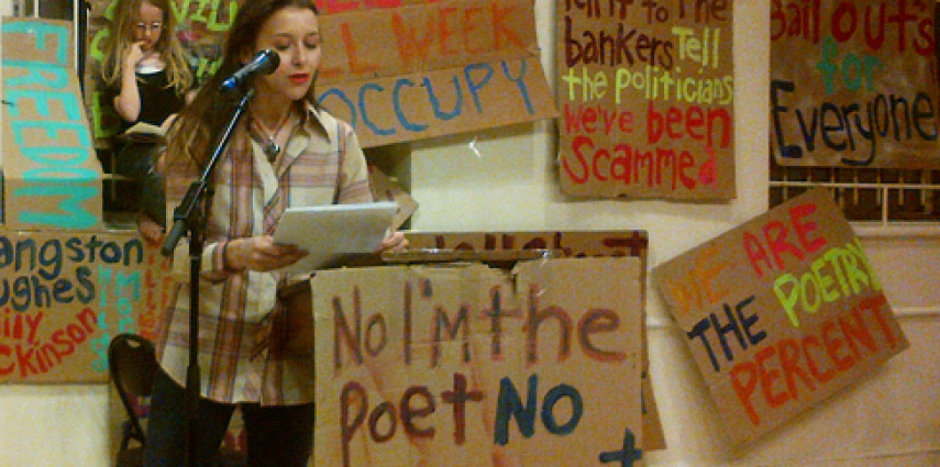 Ayesha Adamo reads at OWS Poetry Anthology Reading at St. Marks Church, NYC