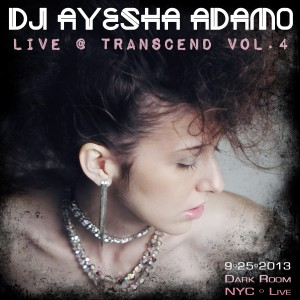 DJ Ayesha Adamo Live at TRANSCEND 4.  Photo by Rhake Winter